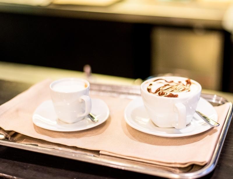 Bevande calde nella colazione dell'Hotel Touring Carpi