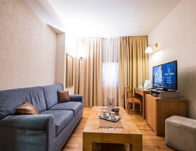 Suite with living room in Hotel Touring Carpi